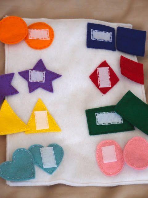 quiet books- match color and shape | ideas♡ | Pinterest | Libros de ...