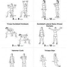 big arm bicep and tricep workout routine  dumbbell