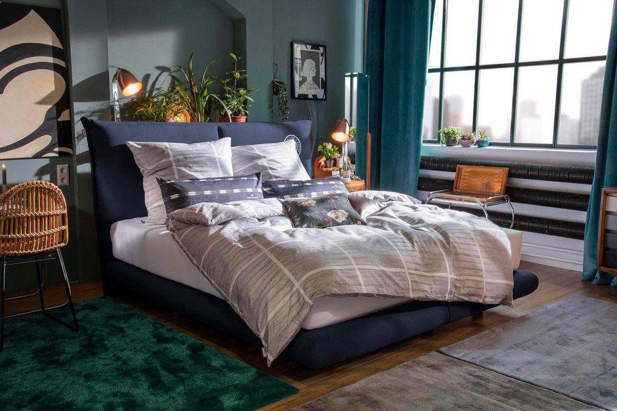 Boxspringbett Soho Pillow Box In Schwebeoptik Mit Knopfprint Hohe 120 Cm Boxspringbett Schlafzimmer Inspiration Und Bett