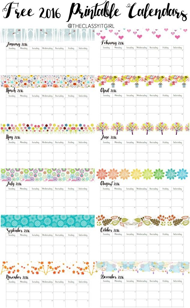 Monthly Calendar Ideas : Best free monthly calendar ideas on pinterest