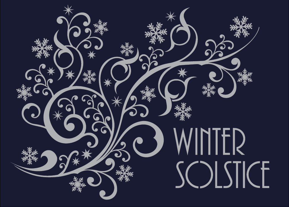 The Winter Solstice is the shortest day and the longest night of the year. The dark wins but only briefly. From now on, the nights get shorter & the days grow longer. Many of the customs associated with Winter Solstice (& other midwinter festivals such as St Lucy's Day, Saturnalia, Hanukkah & Twelfth Night) derive from stories of a mighty battle between dark & light, which is won, by the light. Other traditions say this is the time a savior (the Sun Child) is born to a virgin mother.