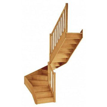 Escalier Double Quart Tournant Milieu Droit Soft Classic