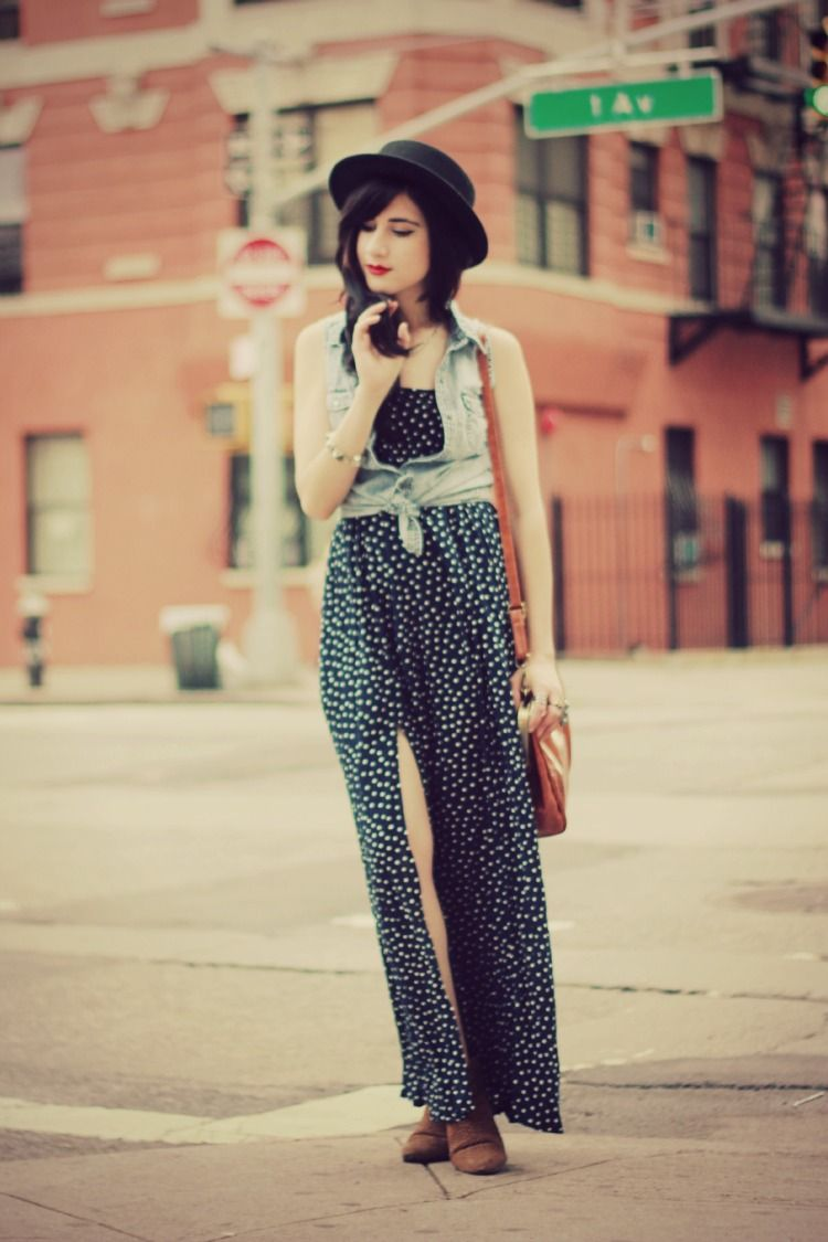 Flashes of style outfit polka dot maxi flashes pinterest