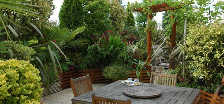 Am nagement de terrasse et balcon paysagers terrasse for Photos terrasses et jardins