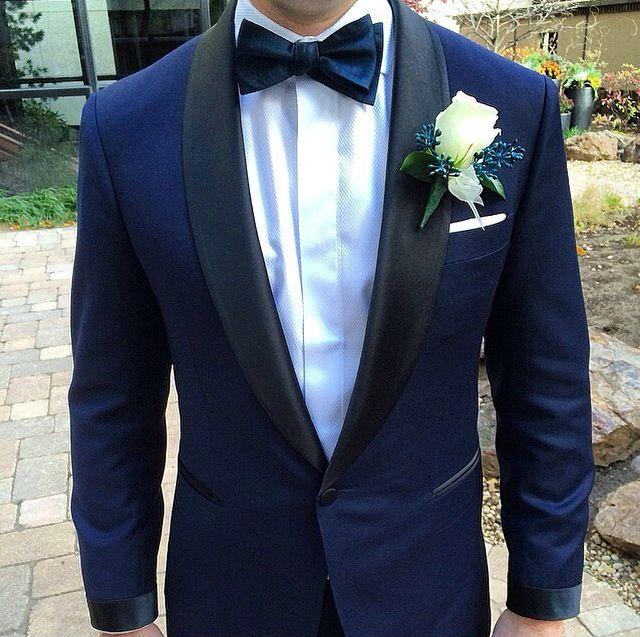 midnight blue tuxedo | Wedding prep | Pinterest | Blue tuxedos ...