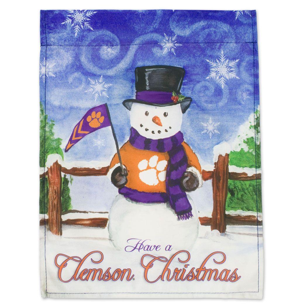 Clemson Christmas Tree: Clemson Tigers Clemson Christmas Flag