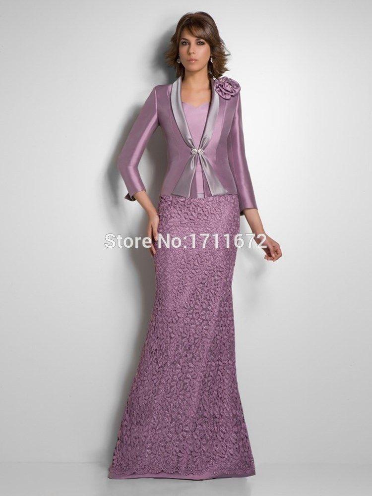 Aliexpress.com: Comprar Nueva púrpura larga De encaje Vestido De ...