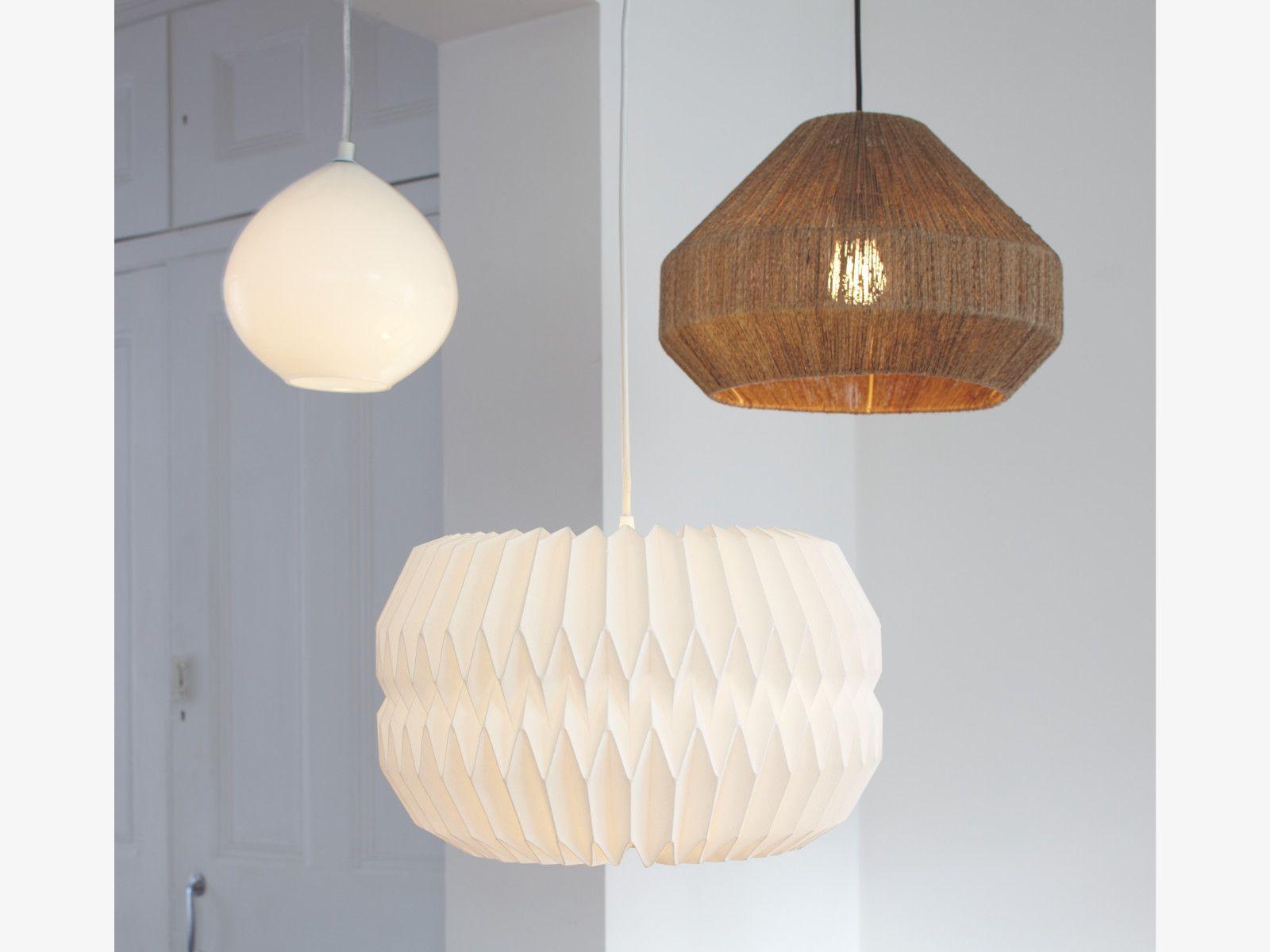 KURA Extra large white lampshade | White lamp shade, Ceiling