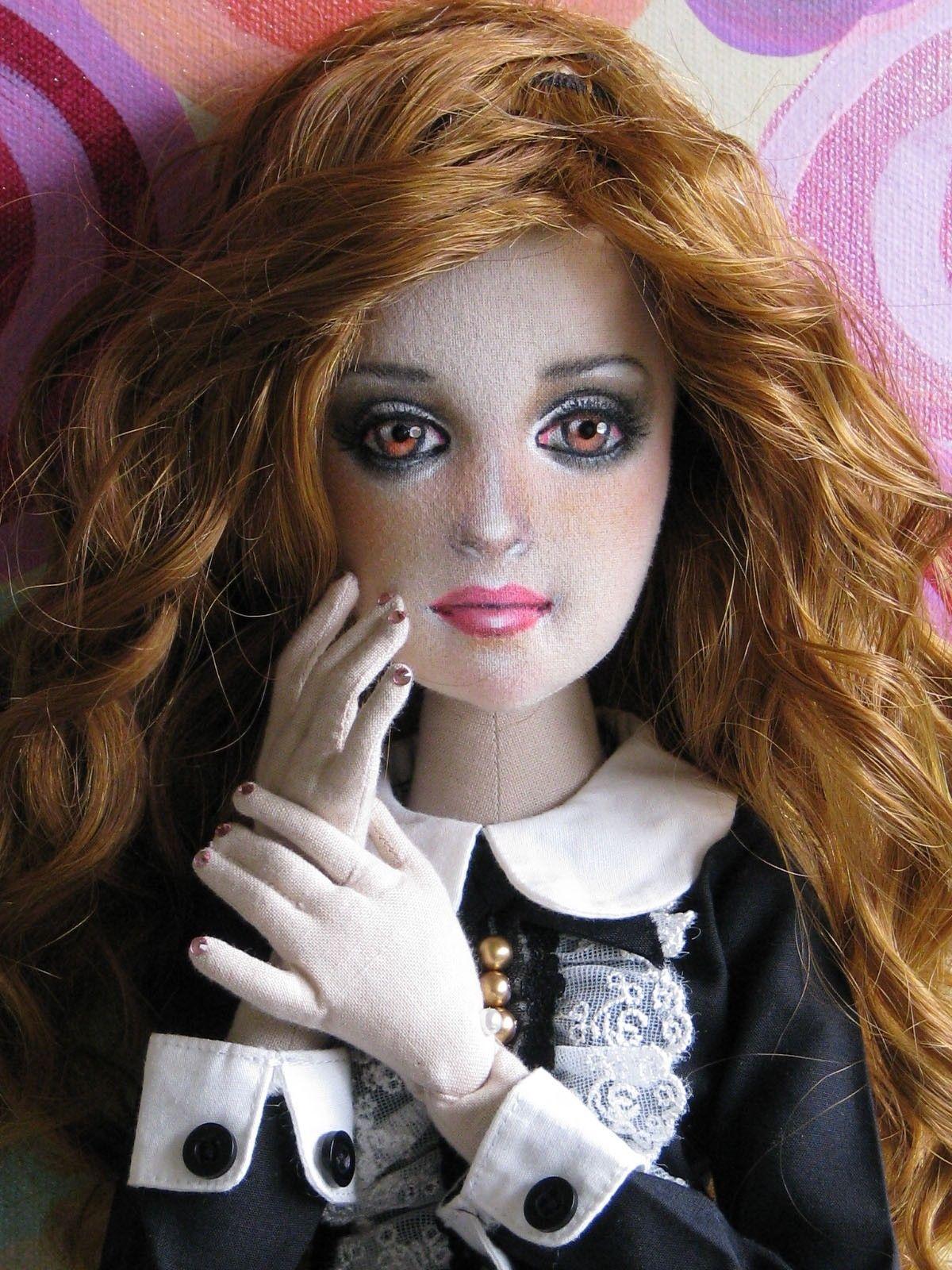 "OOAK Tess 22"" Tall Slim Lady Art Doll Textileposable BJD Size by Gayle Wray | eBay"