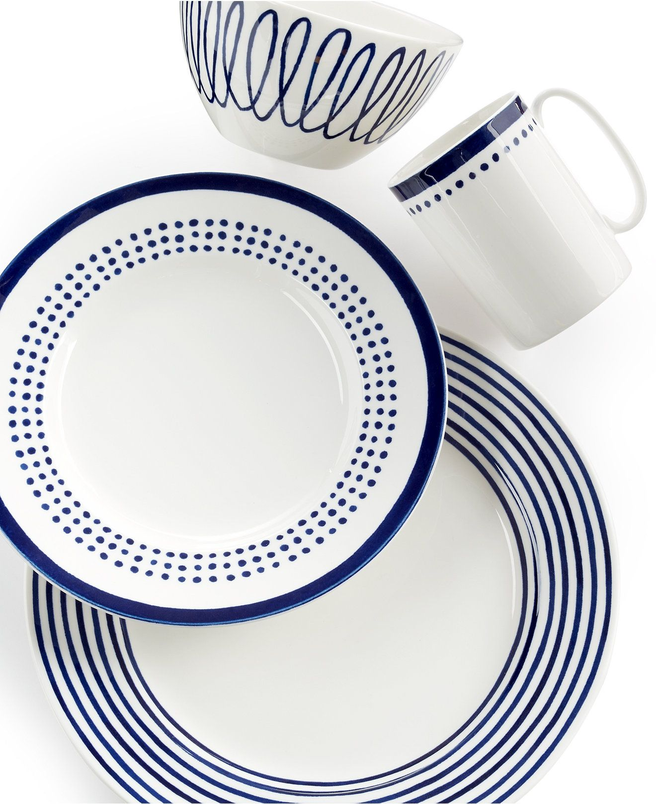 kate spade new york Charlotte Street East 4 Piece Place Setting. Casual DinnerwareDinnerware SetsWedding ...  sc 1 st  Pinterest & kate spade new york Charlotte Street East 4 Piece Place Setting ...