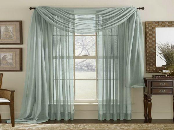 gardinen dekorationsvorschläge zart blau | Wohnzimmer | Pinterest ...