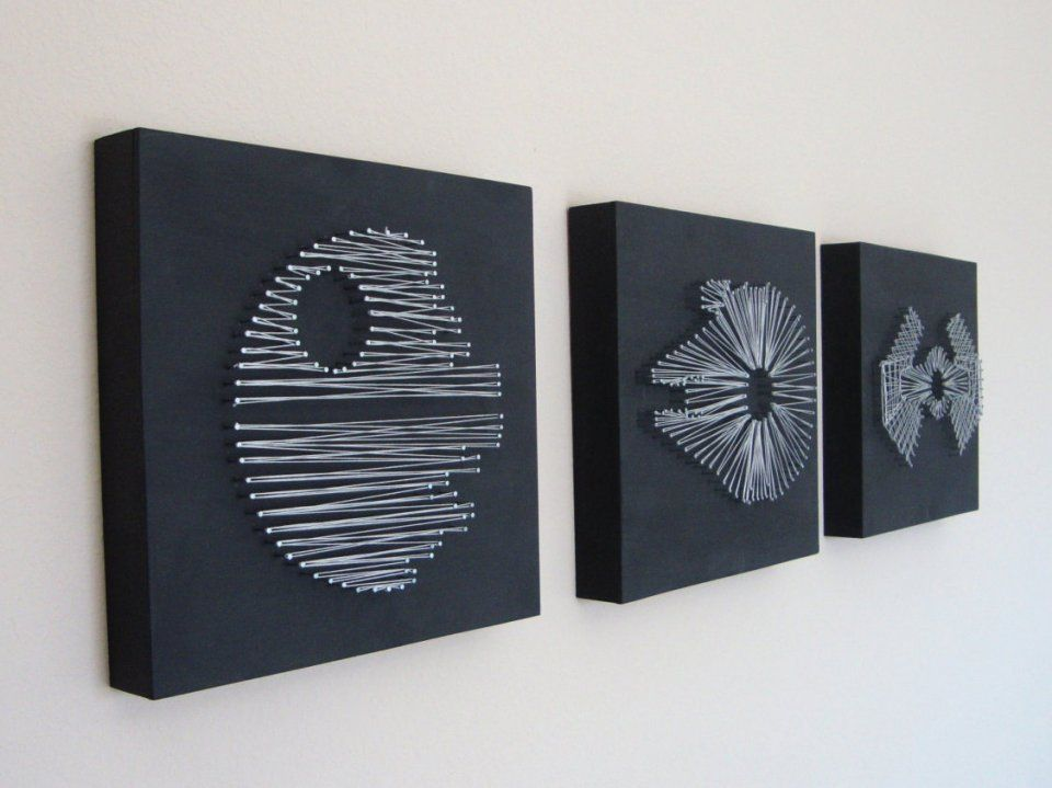 star wars wall art Retro Set of Star Wars String Wall Art | Sci Fi Design | Creating  star wars wall art