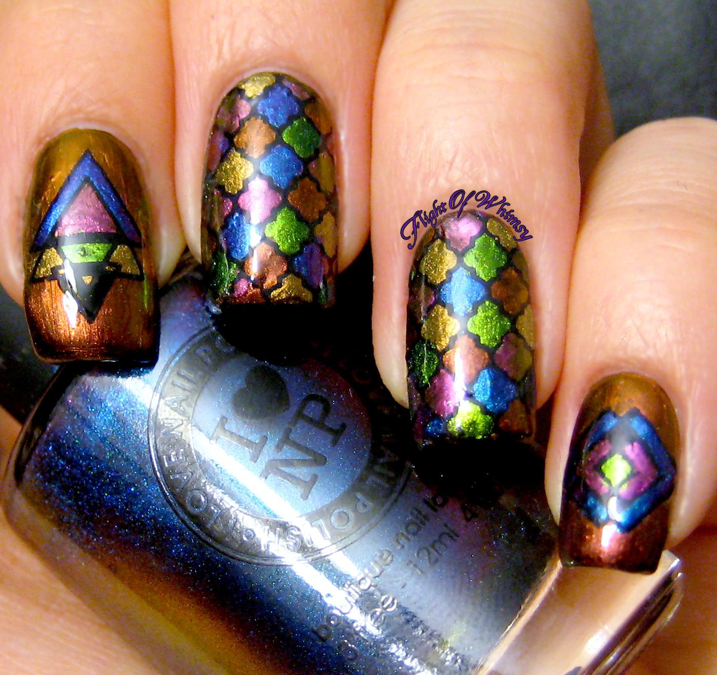 Stained Glass Nail Art: Nail Art Community Pins