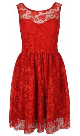 Red Lace Backless skater Dress  Skater Dress cute #summerdress #casualoutfit #sasssjane  #SkaterDress #Skater #Dress #newdress www.2dayslook.com