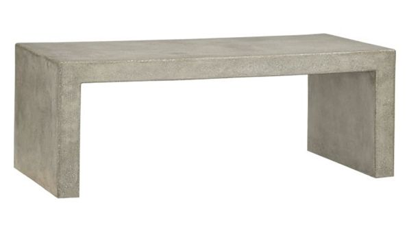 Concrete coffee table on pinterest for Concrete coffee table