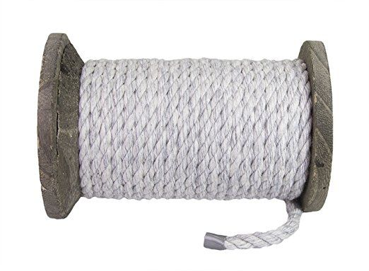 Amazonsmile Fms Natural Twisted Cotton Rope 1 4 Inch 1 2 Inch 5 8 Inch 3 4 Inch And 1 Inch White And Colored Rope By Rope Light Cotton Rope Colored Rope