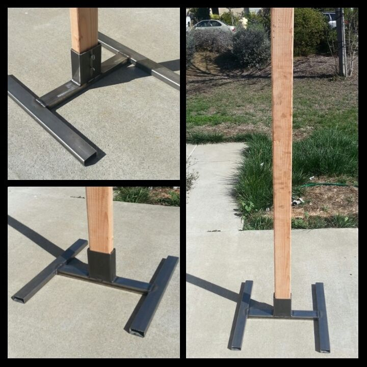 2x4 AND 1x2 combo Welded Steel target stand - Calguns net