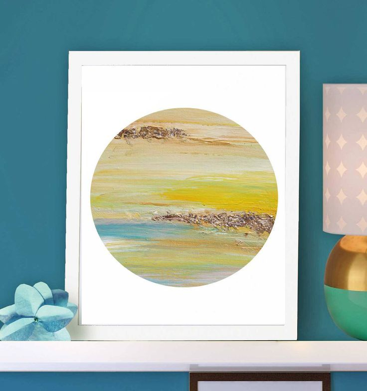 Yellow Wall Art, Gold Leaf Print, Minimalist, Abstract Wall Art ...