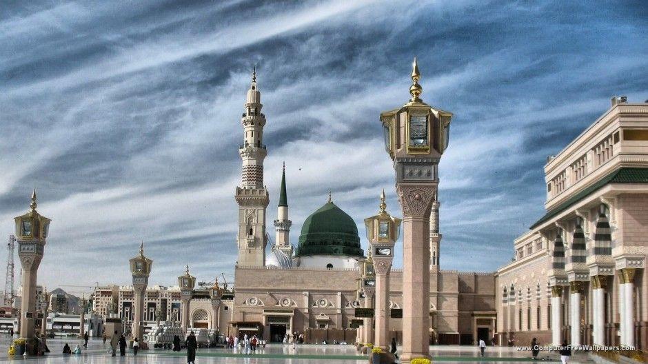 كم آية فيك قد امسيت اخفيها خوف العدا ودموع العين تبديها وزفرة بات شوقي طول ليلته إليك ينشرها عودا ويطويها فارحم تقلقل قل Peace Be Upon Him Masjid Medina Mosque
