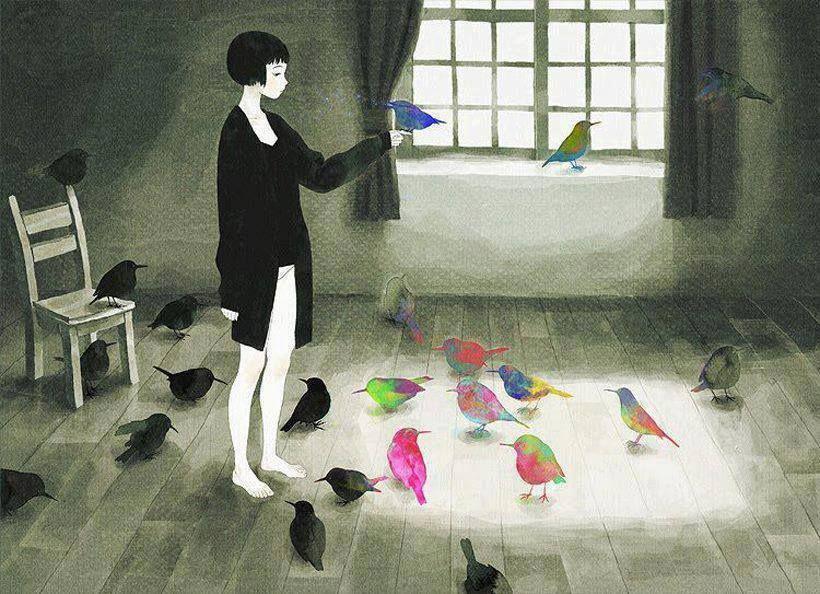 satinea:Au plus fort de l'orage, il y a toujours un oiseau pour nous rassurer. C'est l'oiseau inconnu. Il chante avant de s'envoler.René Char