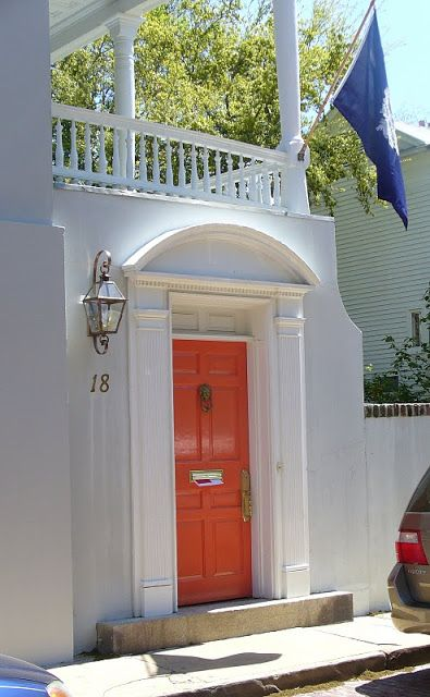 Chinoiserie Chic: The Chinoiserie Front Door   Coral?