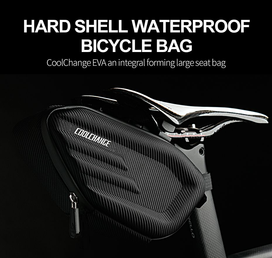 MTB Bike Bicycle Saddle Bag Under Seat Storage Tail Pouch Cycling Rear Pack EVA