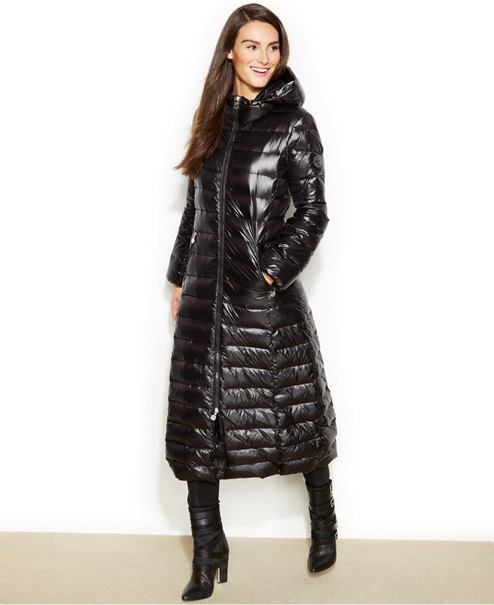 97d5a1a6c3 Calvin Klein Hooded Maxi Down Puffer Coat on shopstyle.com | Style ...