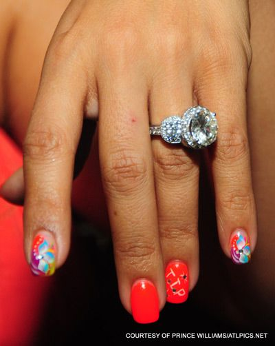 Tameka Tiny Harris wedding ring Thats super pretty Big Ring