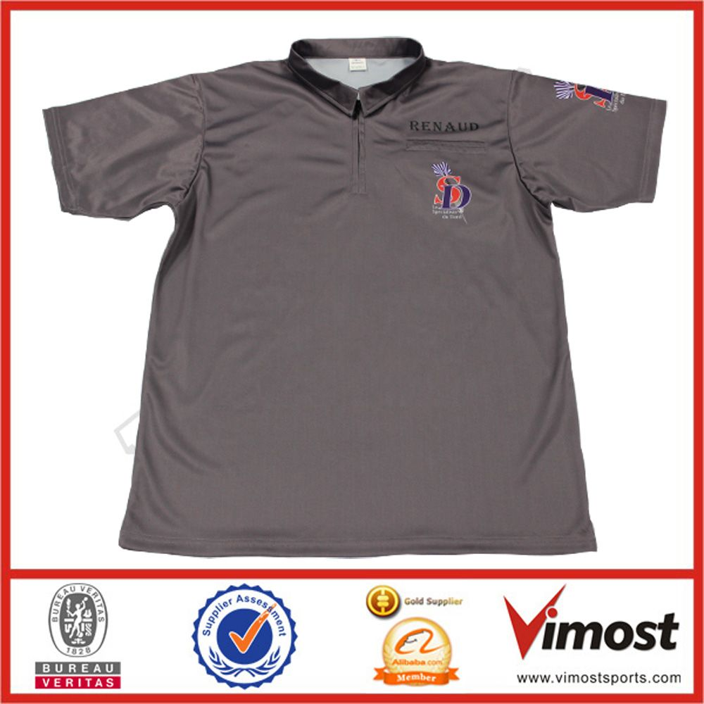 Custom 100 Polyester Fabric With Good Quality Sports Polo Shirt