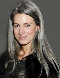 Fashion feature writer for Vogue Sarah Harrisgoing grey