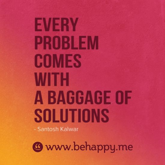 Every problem comes with a baggage of solutions