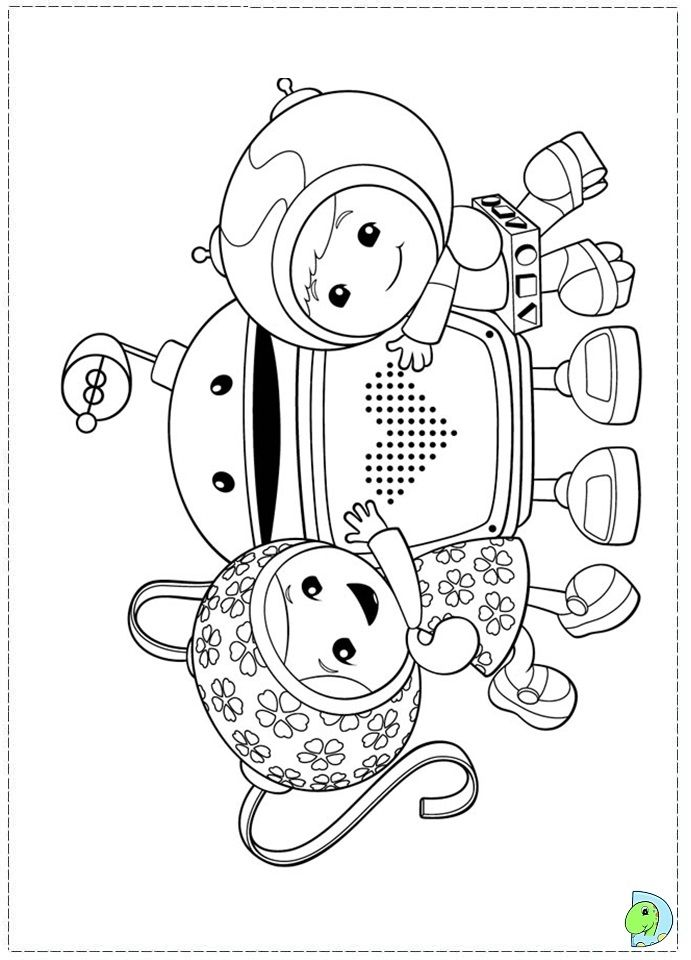 Team Umizoomi Printable Coloring Pages Children Coloring Cakes