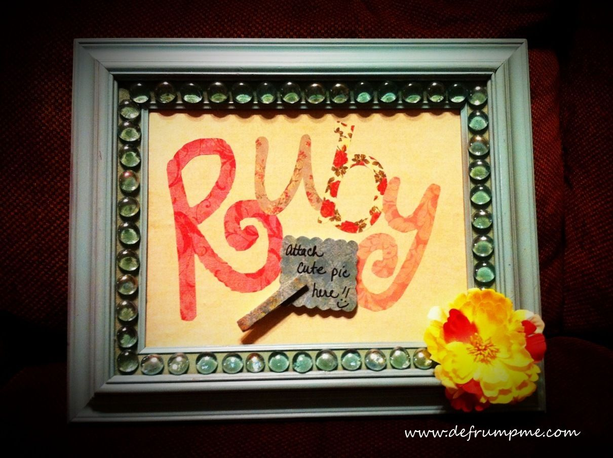 Silhouette Name Art tutorial--so cute and easy for a gift idea!