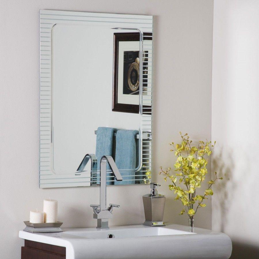Decor Wonderland Frameless V-Groove Mirror - SSM1125 | Frame mirrors ...