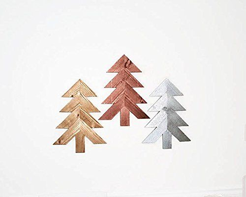 Wood Chevron Trees, 3 pc Set, Wooden Christmas Tree Wall