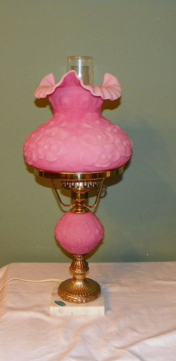 Decorative Arts Lamps Hard-Working 1950s French Vintage Antique Bronze Table Flower Style Lamp W/t 2 Colored Glass