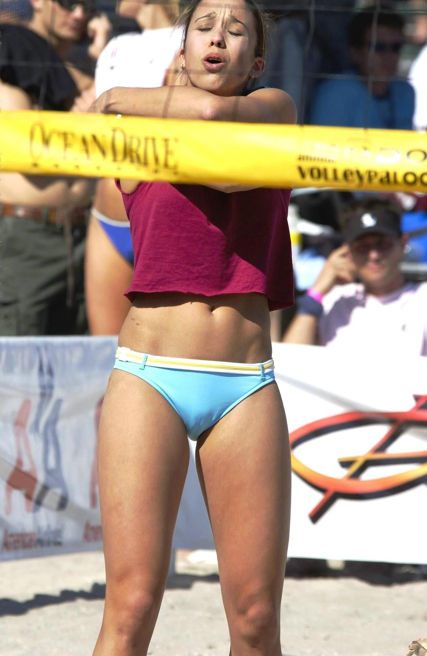 Beach volleyball voyeur