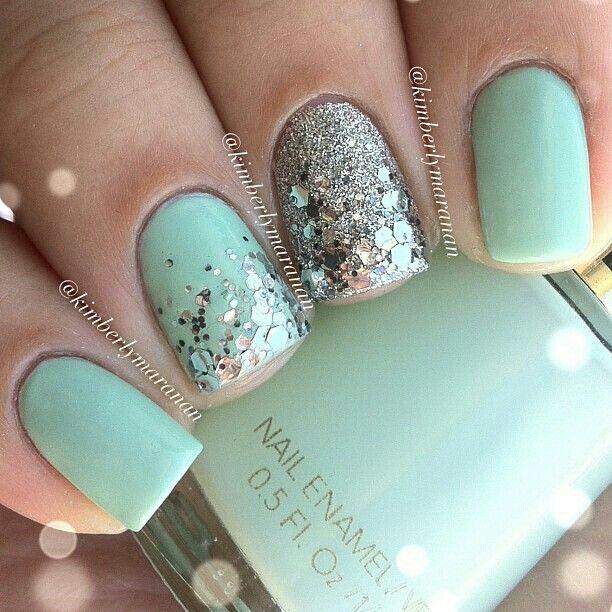 aqua nails wedding - Google Search   Nail Crush   Pinterest