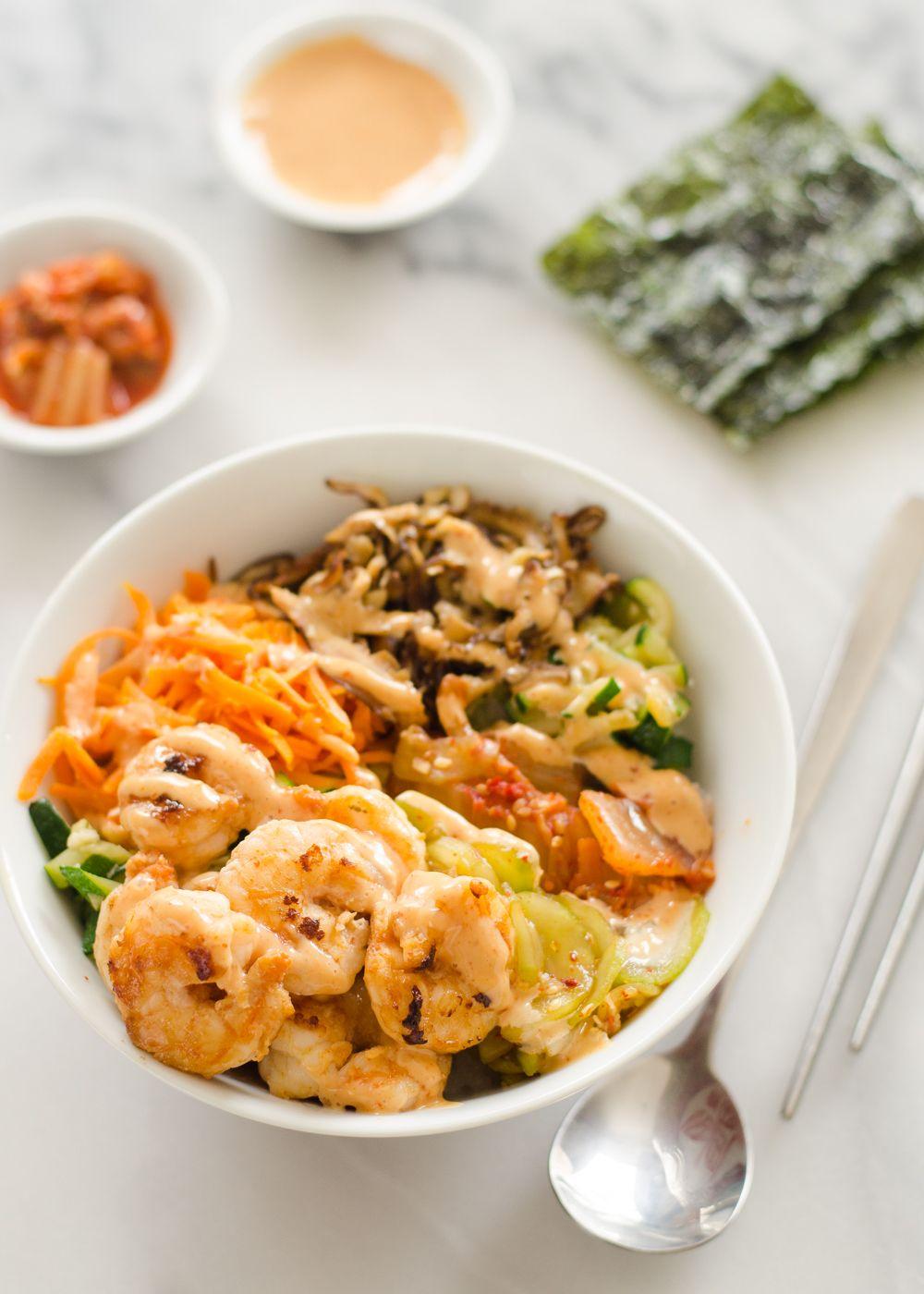Spicy Korean Shrimp Rice Bowls Recipe Dinner, Shrimp