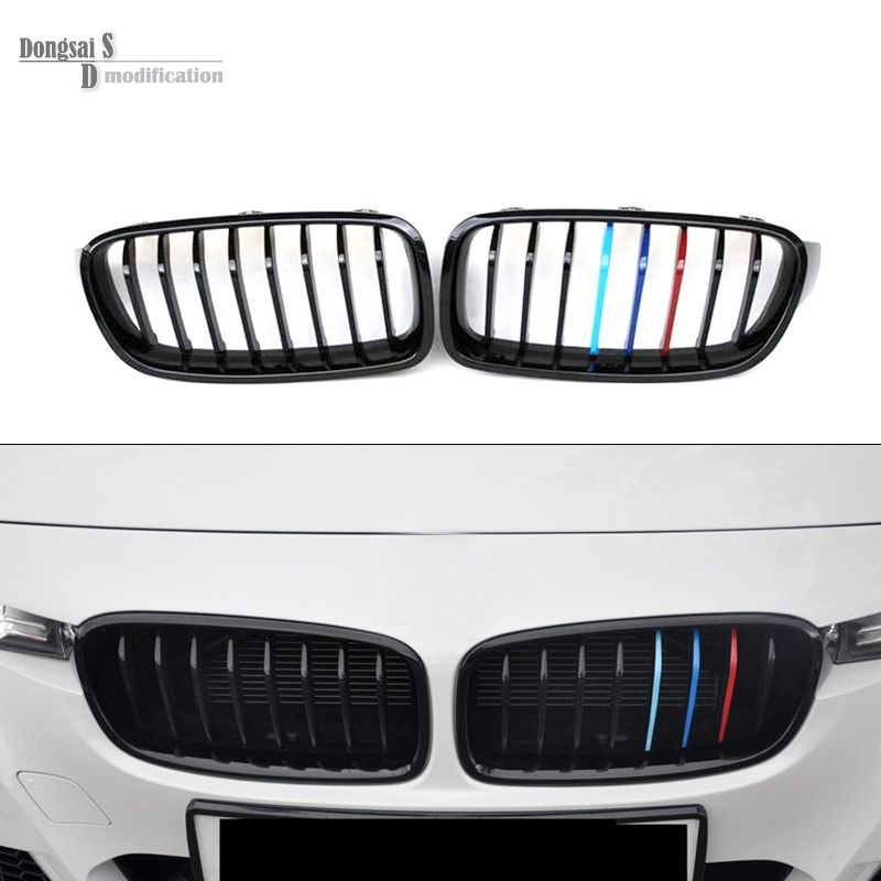 M3 Tri Color F31 Front Abs Hood Grill For Bmw 3 Series 2012 2016