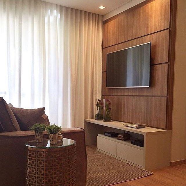 """1,241 curtidas, 8 comentários - Arq•Décor•Casa•Home•Interior (@bloghomeidea) no Instagram: """"Compacto, lindo e aconchegante. 😍 Amei! @pontodecor Projeto Mariane e Marilda Baptista…"""""""