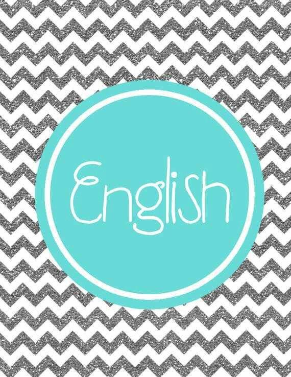 English Things to print Binder cover templates, Monogram binder