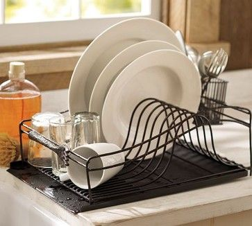 Cucina Dish Drying Rack Modern Racks Pottery Barn