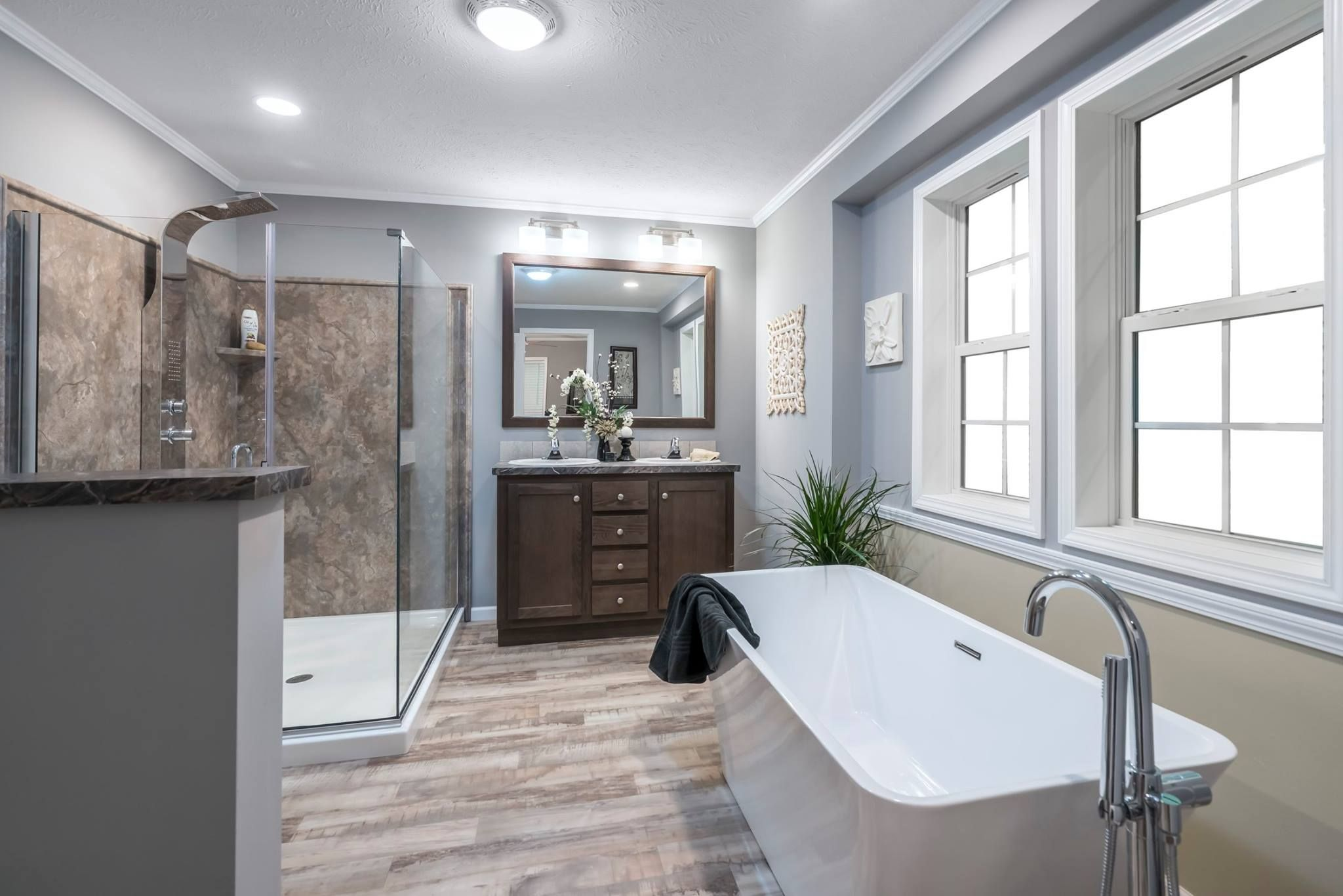 Check Out This Gorgeous Master Bath Complete With A Freestanding