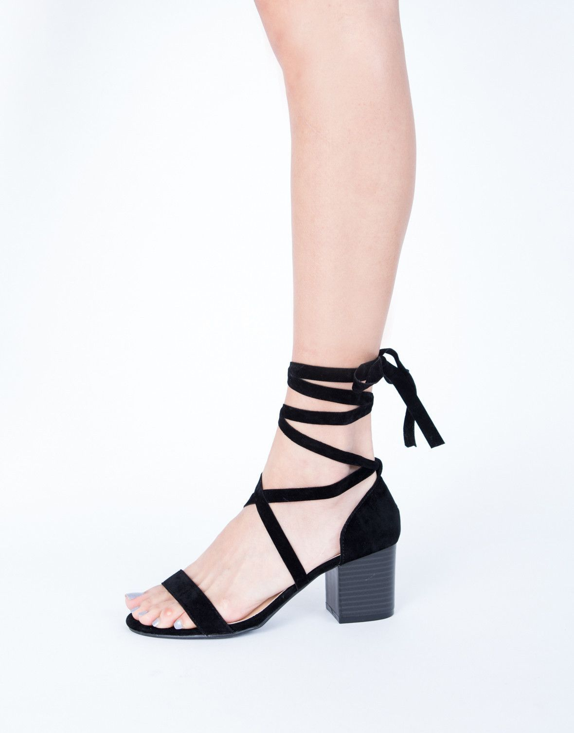 e28c8afaf943 Your new favorite pair of sandals are officially here. These Lace-Up Block  Heel