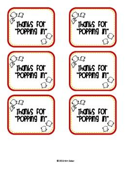 image regarding Thanks for Popping by Free Printable known as Free of charge Owing for \
