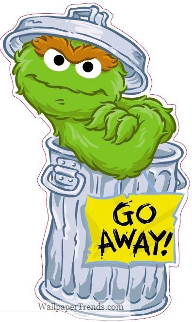 9 oscar the grouch sesame street removable wall decal sticker art rh pinterest com  free oscar the grouch clip art