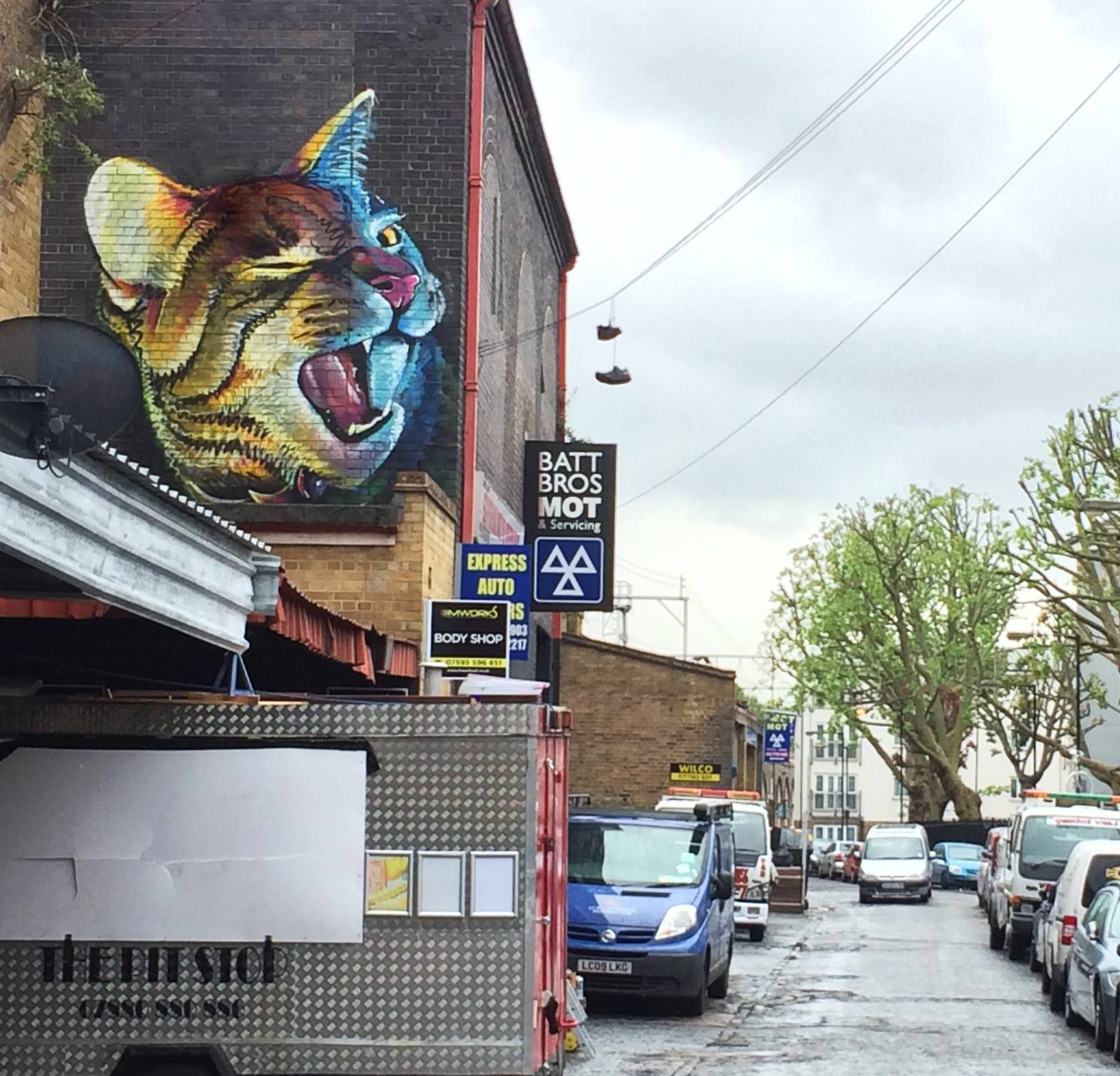 Irony in Bethnal Green, London