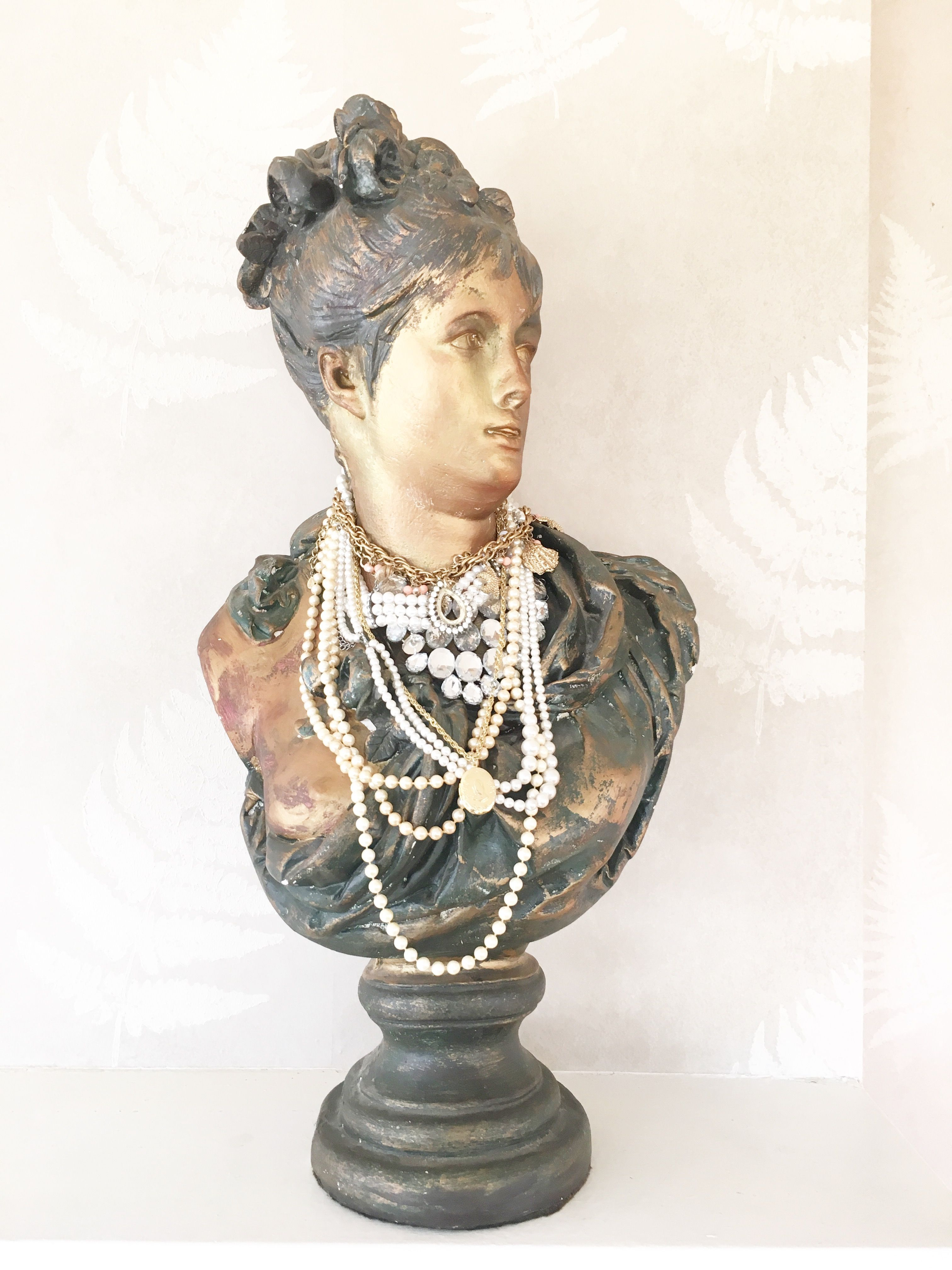 Plaster Vintage French Female Bust Pkl The Cellar Busts