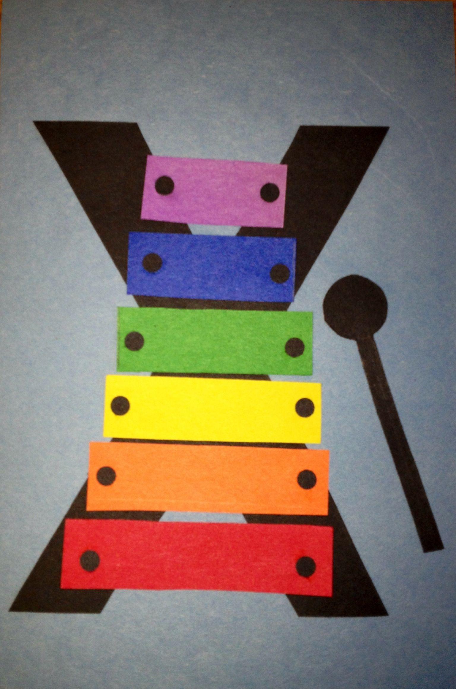 Letter X Preschool Craft